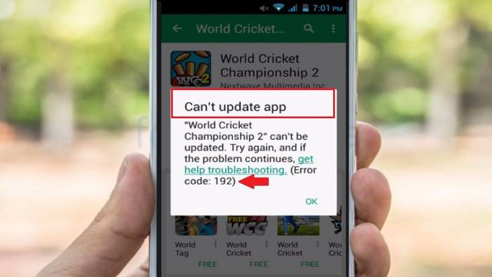 Ошибка 192 Google Play Market