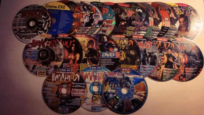 CD диски журнала Игромания и Видеомания