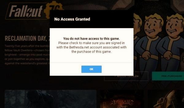 Fallout 76 online невозможно удалить бета-версию игры ошибка, баг