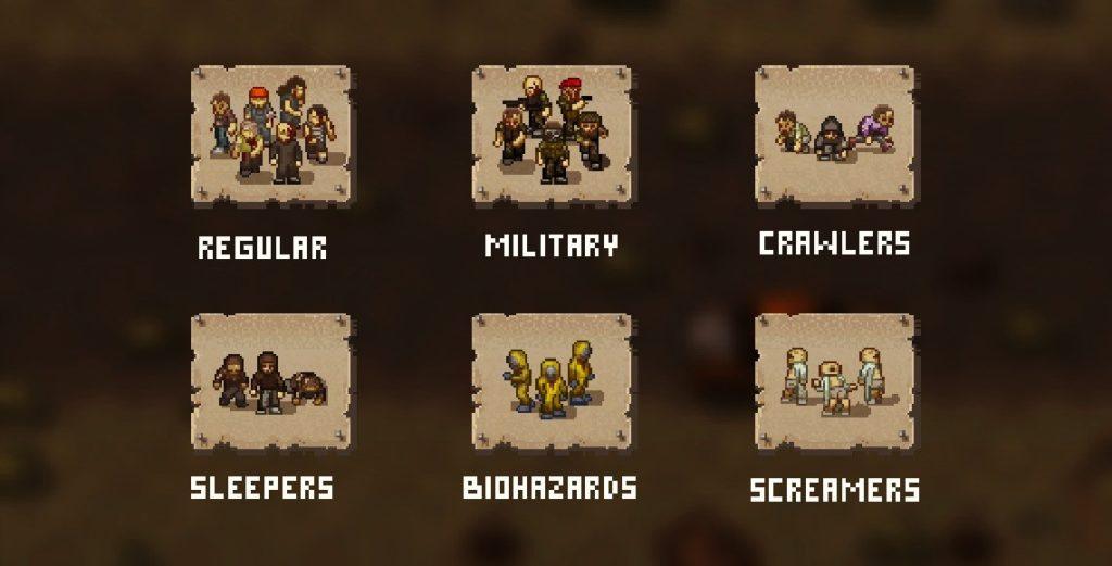 Группировки вражеских формирований в игре Mini Dayz