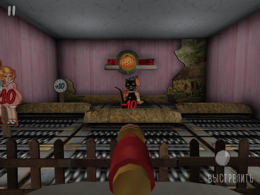 стрельба из жвательной пушки в мини-игре в Evil Nun